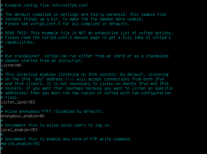 FTP Linux Instalacja