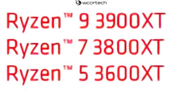 Ryzen 9 3900XT Ryzen 7 3800XT Ryzen 5 3600XT