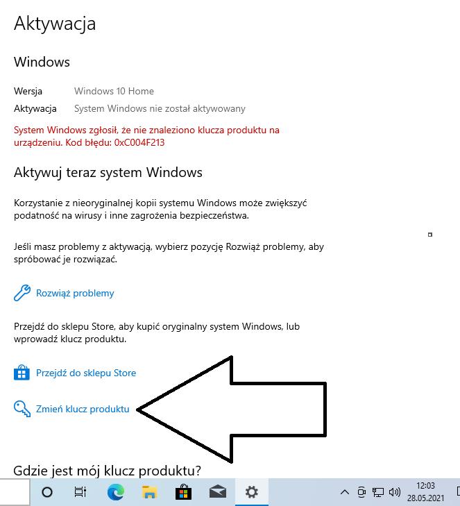Jak aktywować system Windows 10