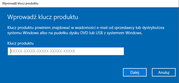 windows 10 aktywacja