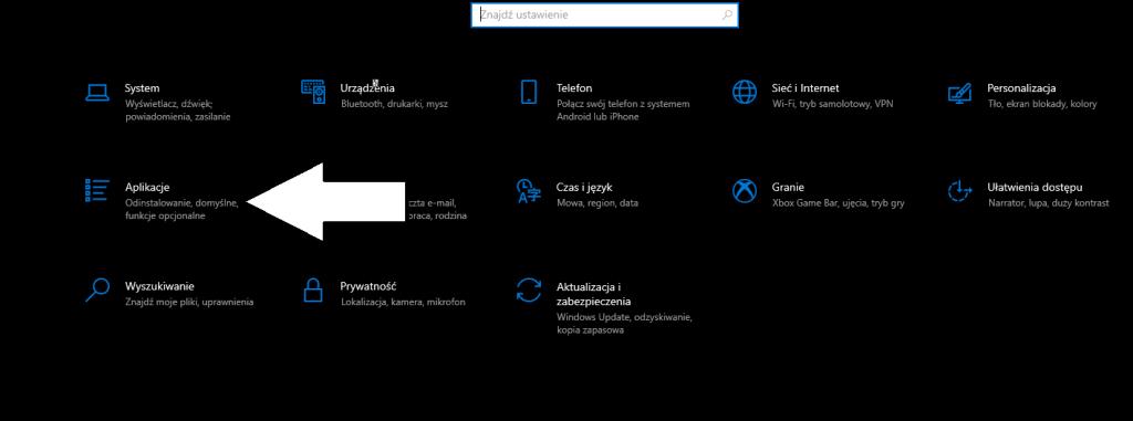 Domyślne programy windows