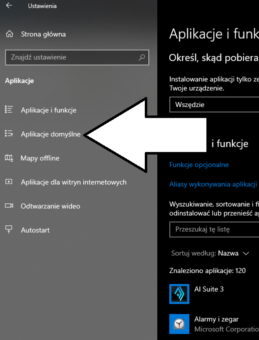 Jak zmienić aplikacje domyślne Windows