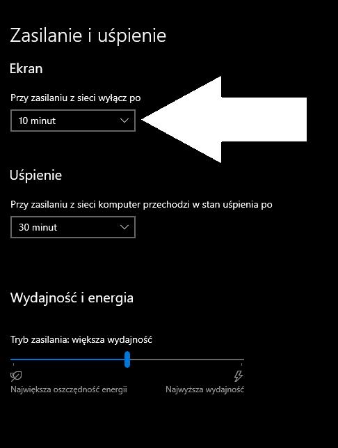 Wygaszanie ekranu jak wyłaczyć