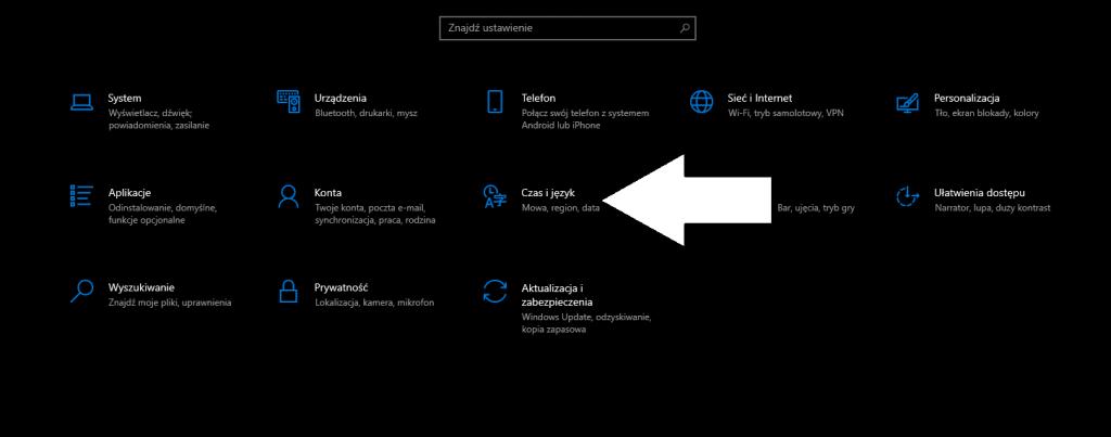 Jak zmienić język Windows