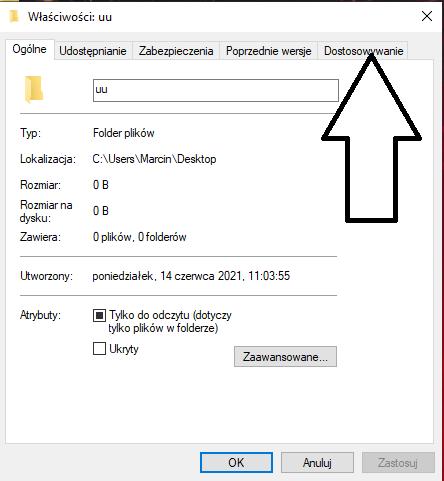 Jak zmienić ikonę folderu