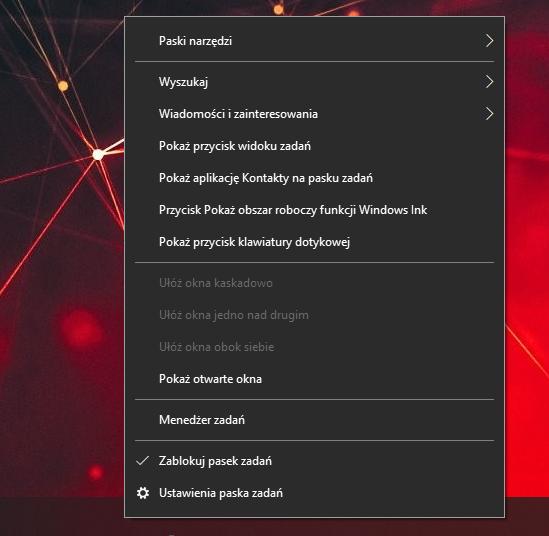 Pasek wyszukiwania Windows 10