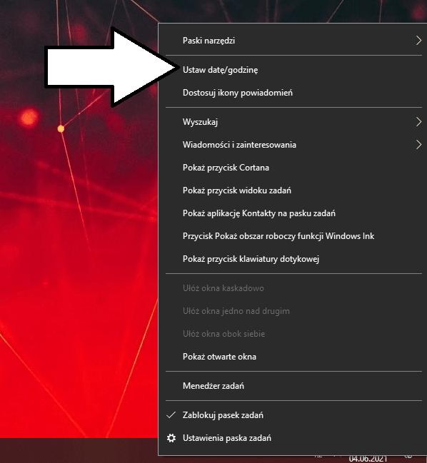 Jak zmienić datę w komputerze